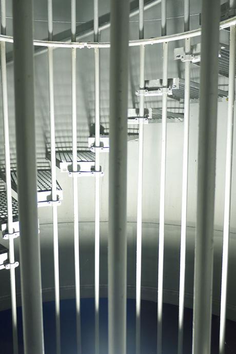 Puit de lumière dans l'escalier de la banque CIC de Nantes près de la Cité des Congrès