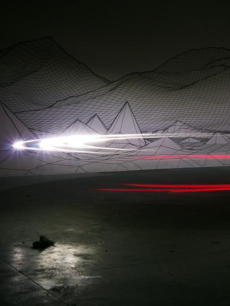 Light Painting avec des lumière de vélo