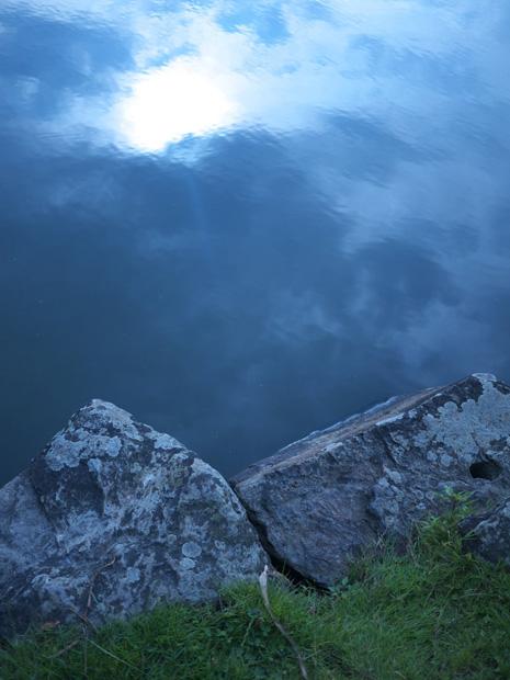 Ondulations de l'eau sur les rives de l'Erdre à Sucé-sur-Erdre