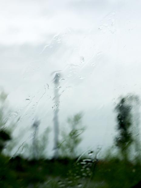 Eau de pluie sur le paysage nantais